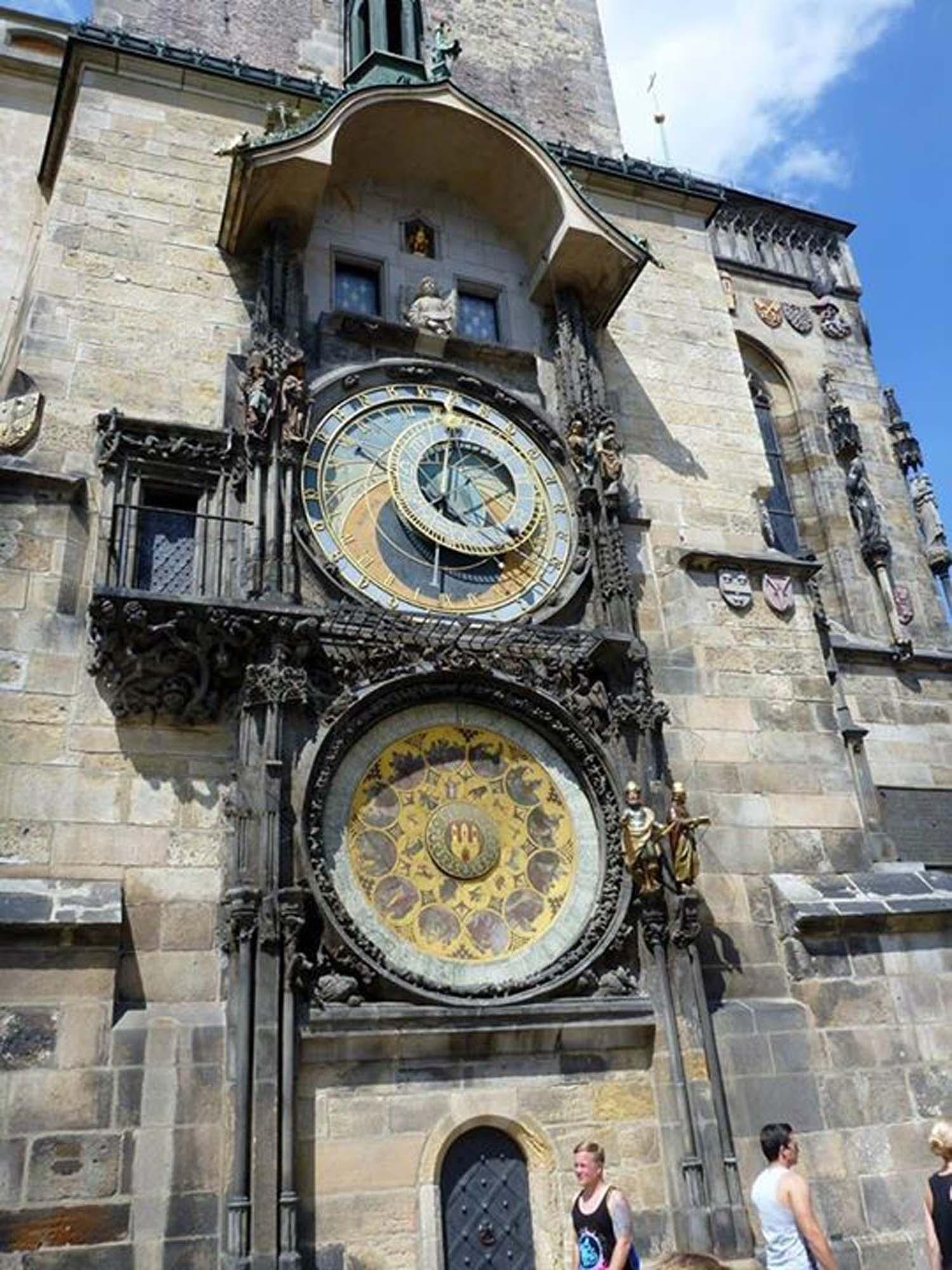 Die berühmte astronomische Uhr im Prager Zentrum