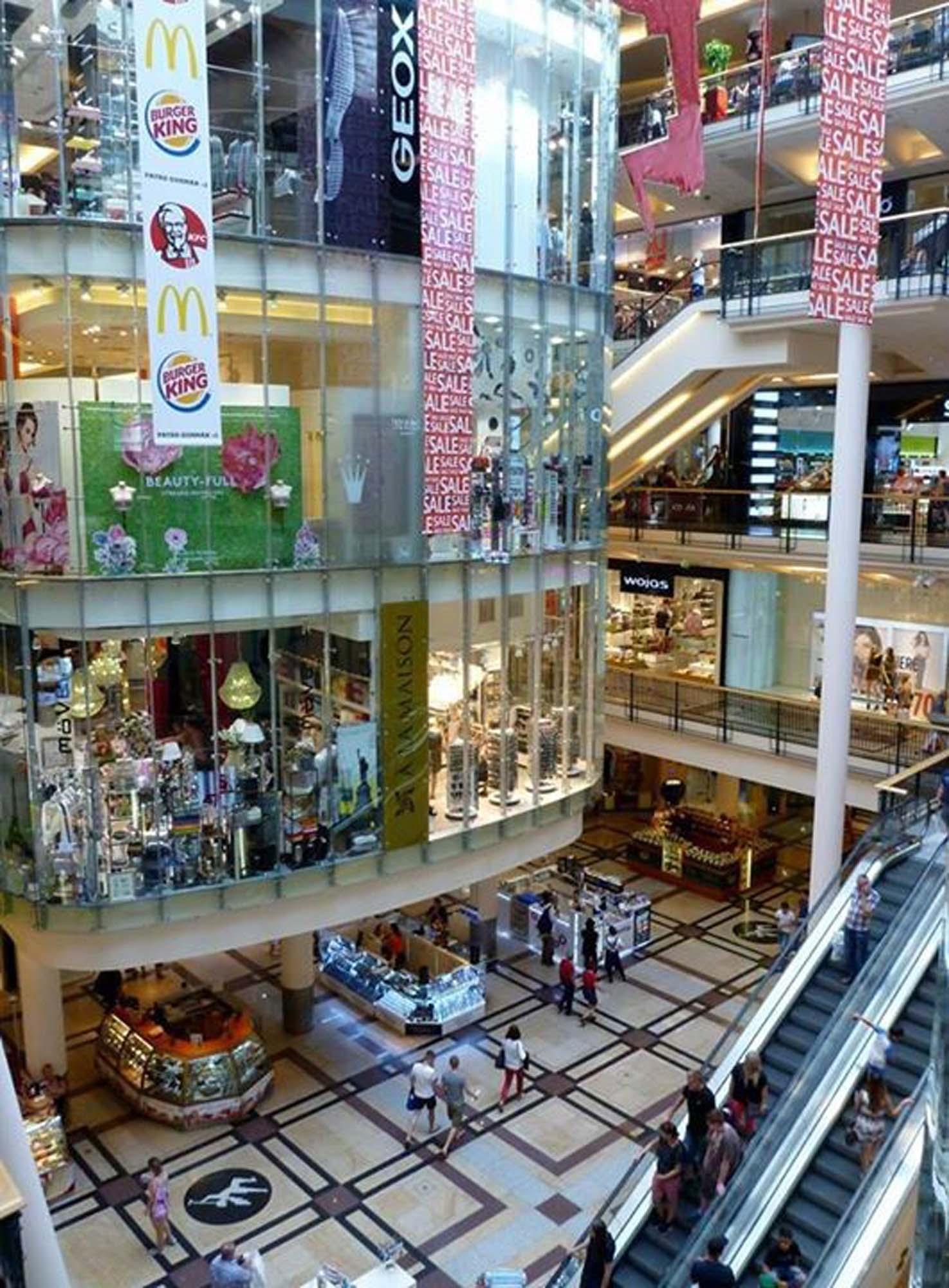 gekühltes Klima im Einkaufszentrum