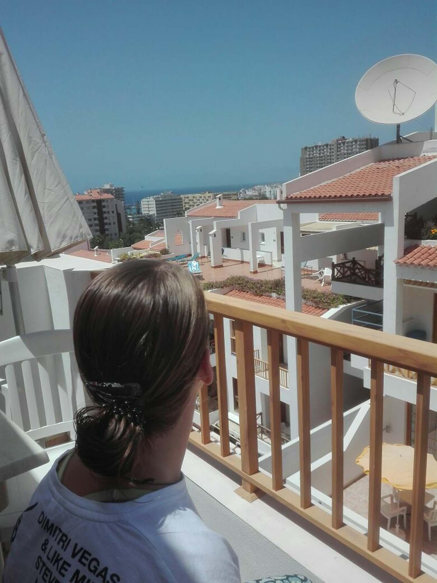 Ein letzter Blick vom Balkon