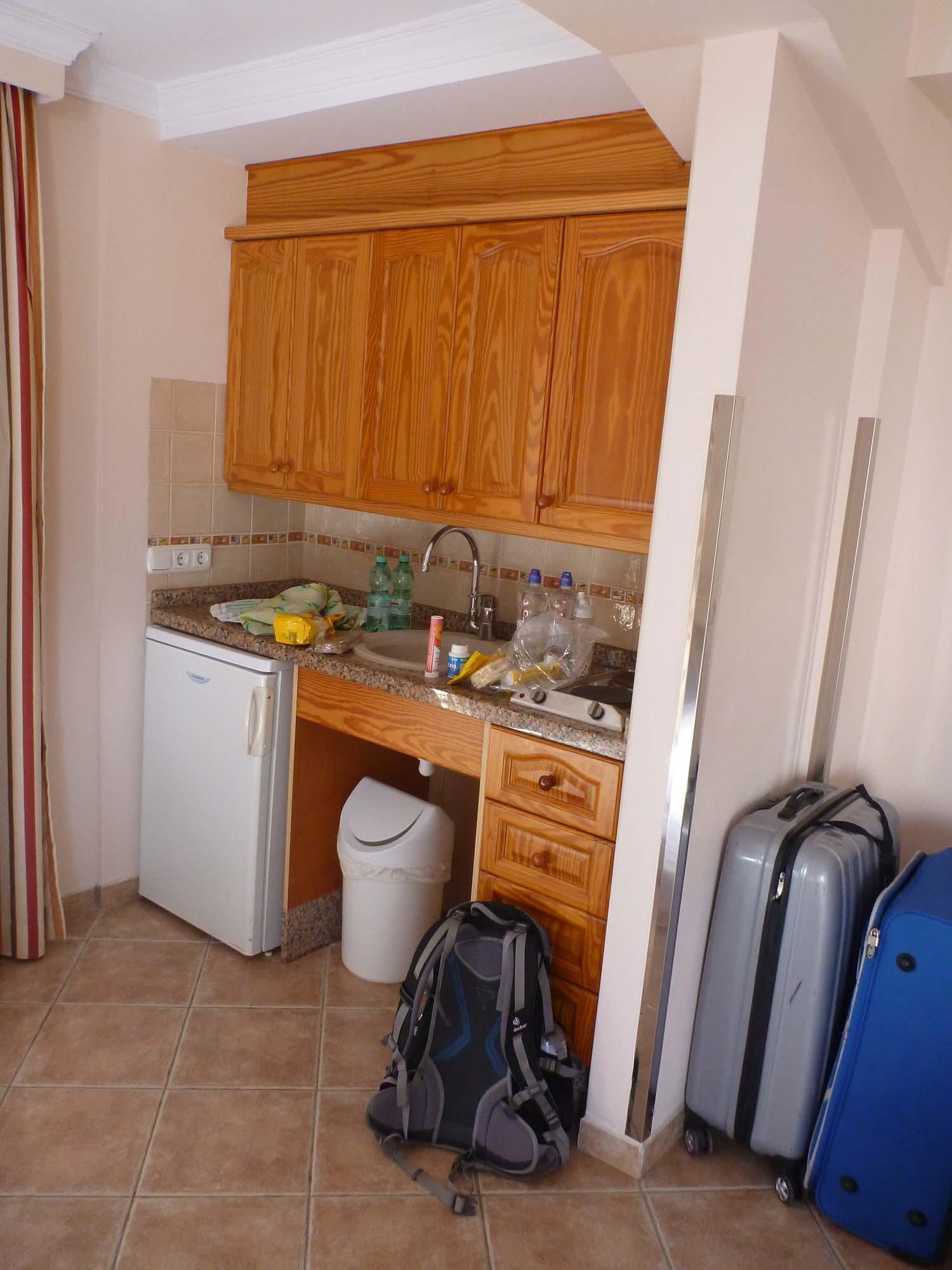 Zimmer mit Küchenzeile