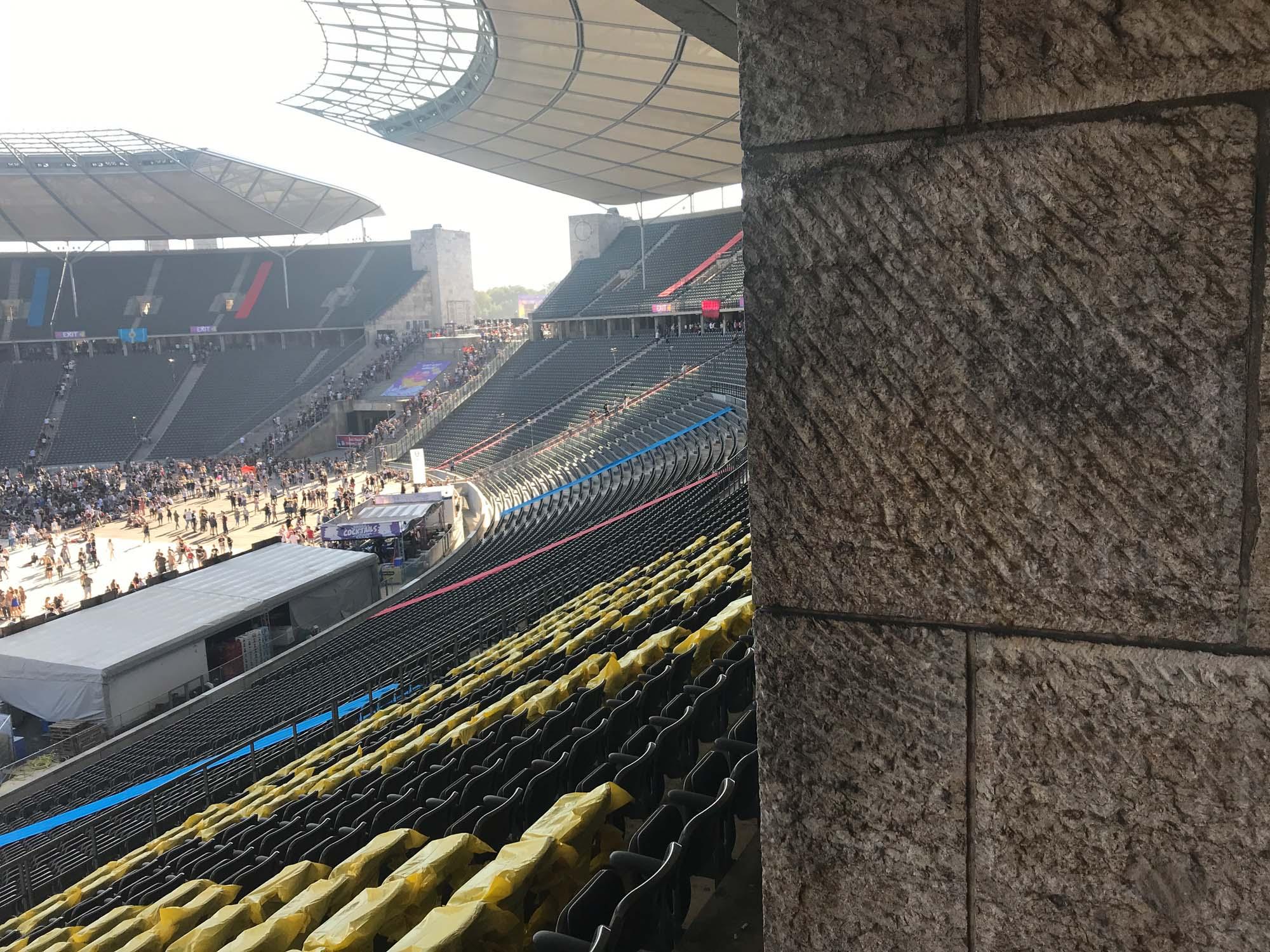 Blick von den Sitzplätzen