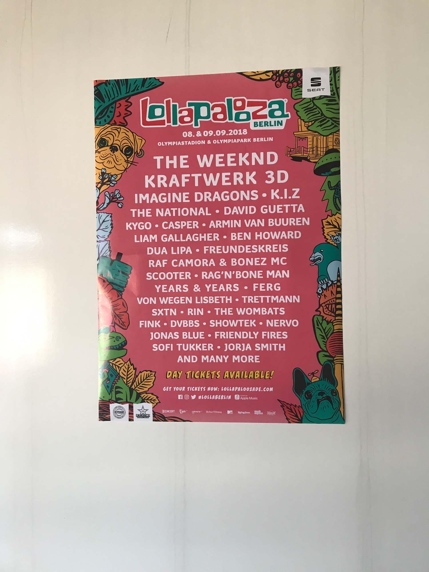 Lineup Lollapalooza 2018