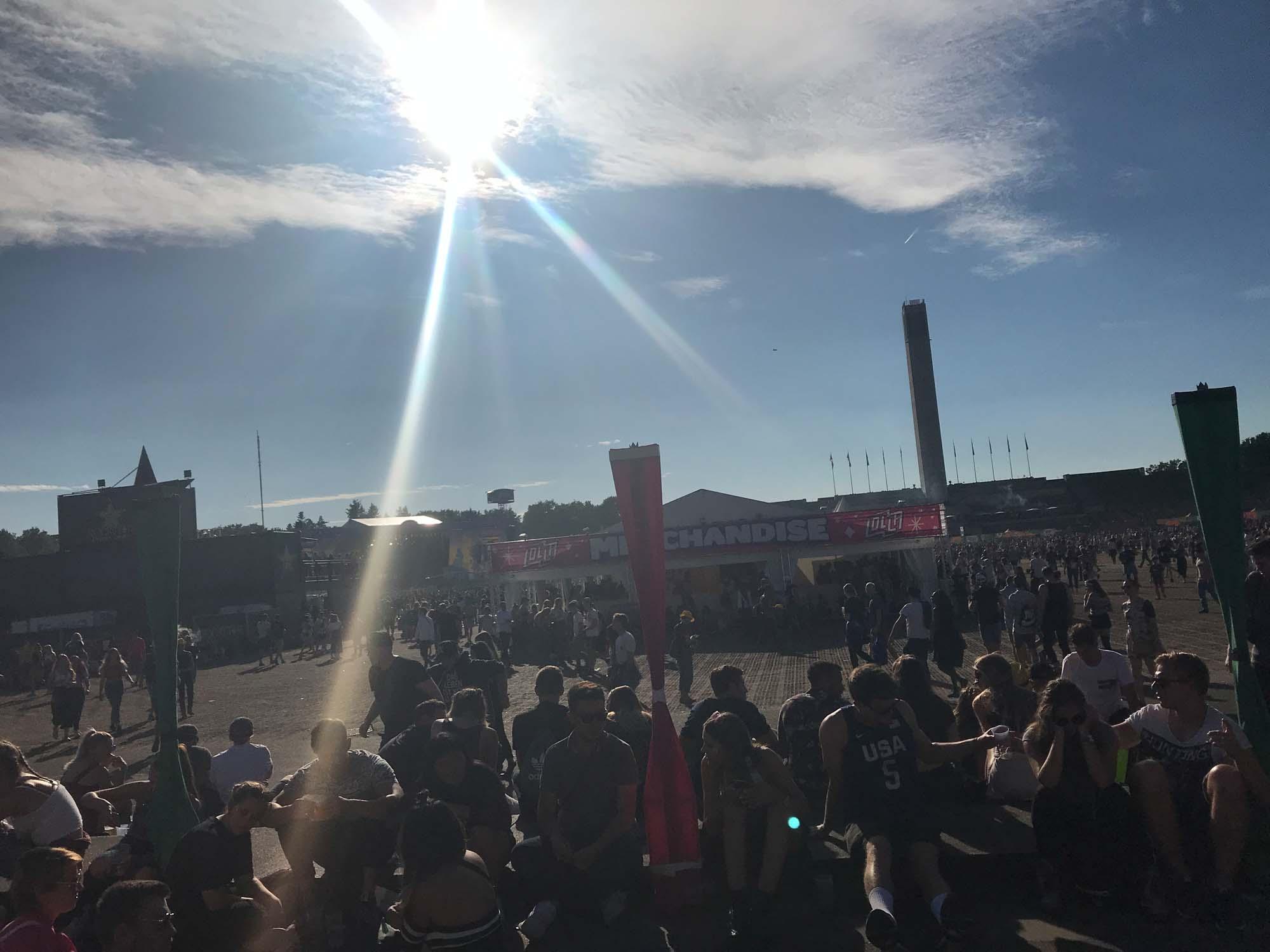 Strahlender Sonnenschein im Olympiapark