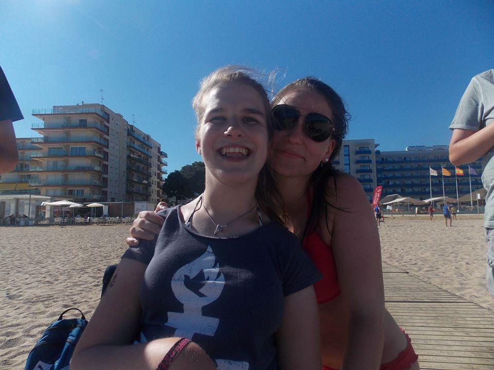 Spaß am Strand mit Elena