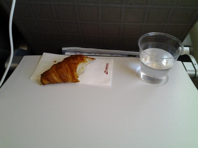 Unser Snack im Flugzeug